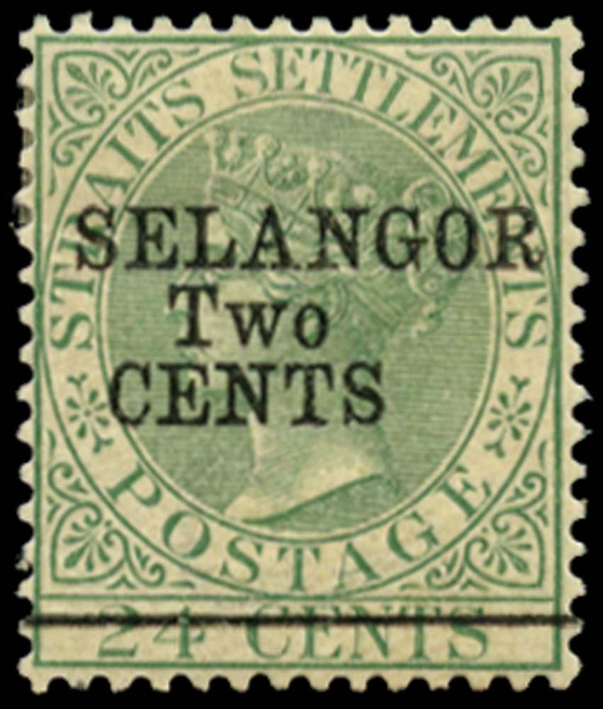 MALAYA - SELANGOR 1891  SG47 Mint