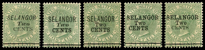 MALAYA - SELANGOR 1891  SG44/8 Mint