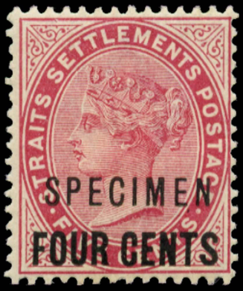 MALAYA - STRAITS 1899  SG109s Specimen