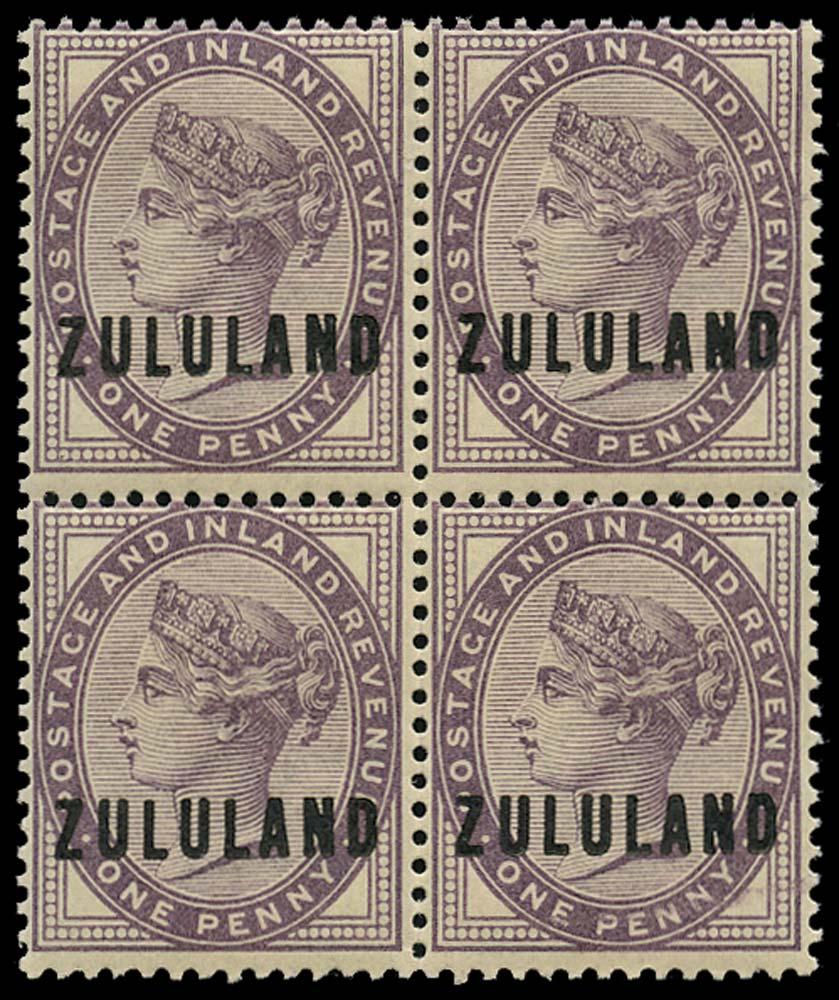 ZULULAND 1888-93  SG2 Mint