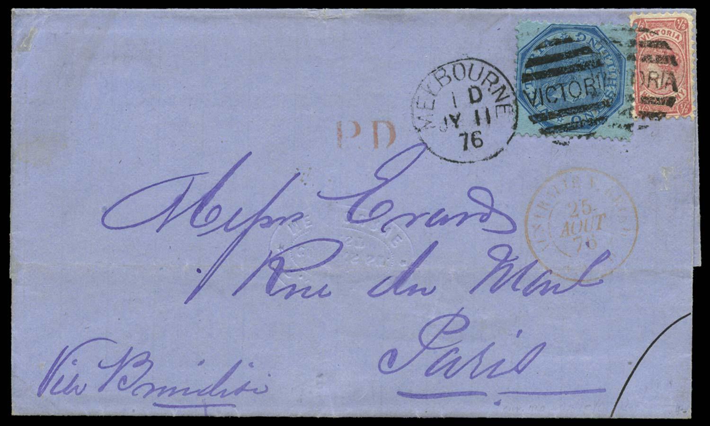 VICTORIA (AUS) 1876  SG147, 176a Cover