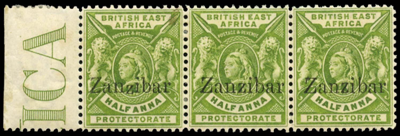 ZANZIBAR 1896  SG41/A/C Mint