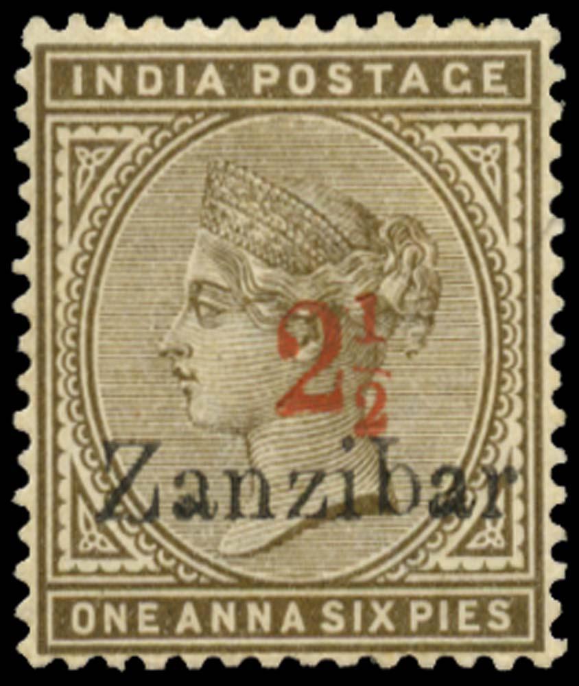 ZANZIBAR 1895  SG22H Mint