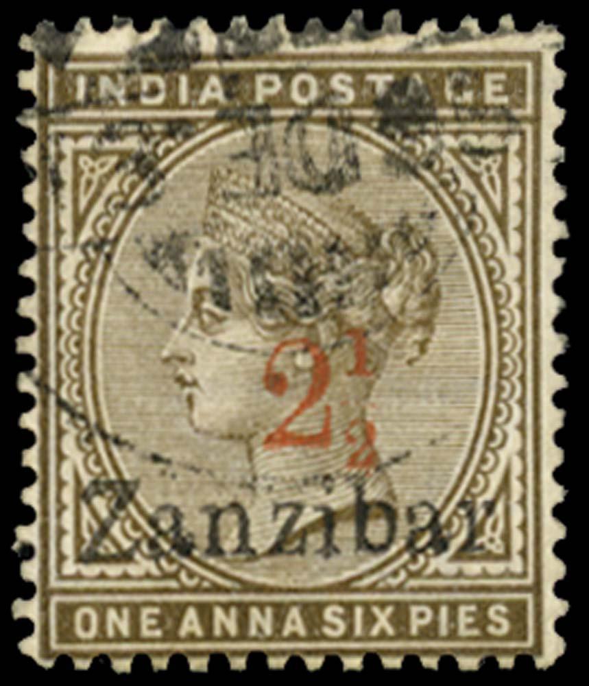 ZANZIBAR 1895  SG22A Used