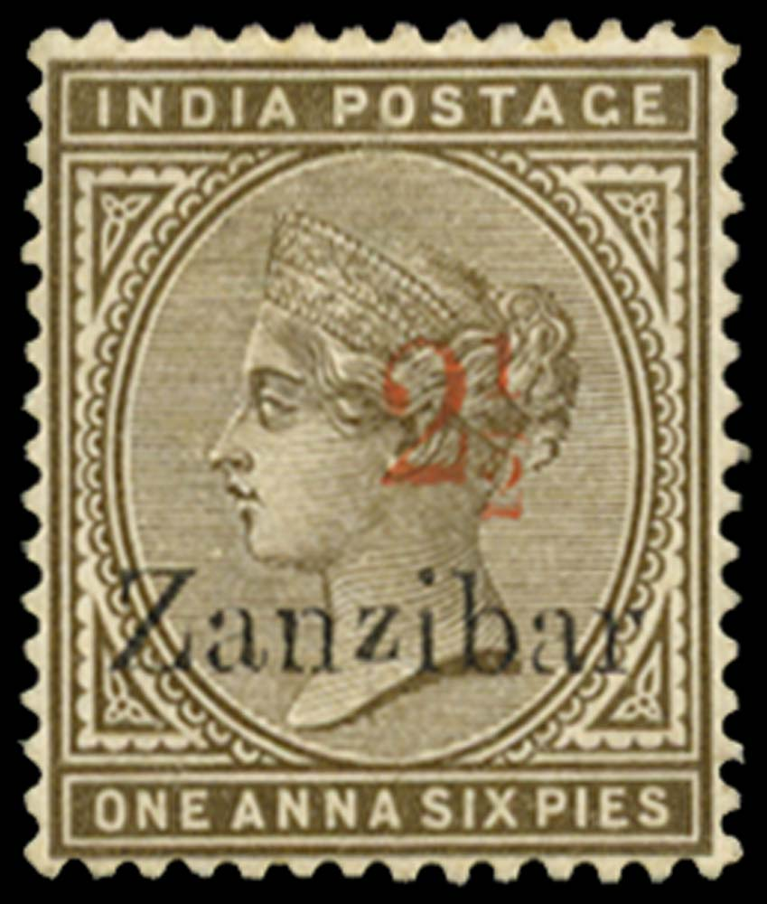 ZANZIBAR 1895  SG22D Mint