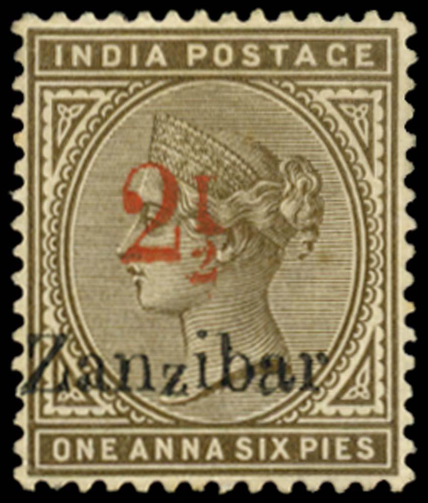 ZANZIBAR 1896  SG29j Mint