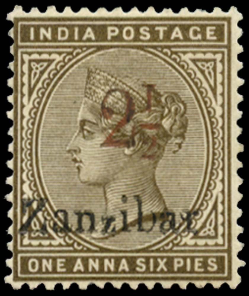 ZANZIBAR 1896  SG29k Mint