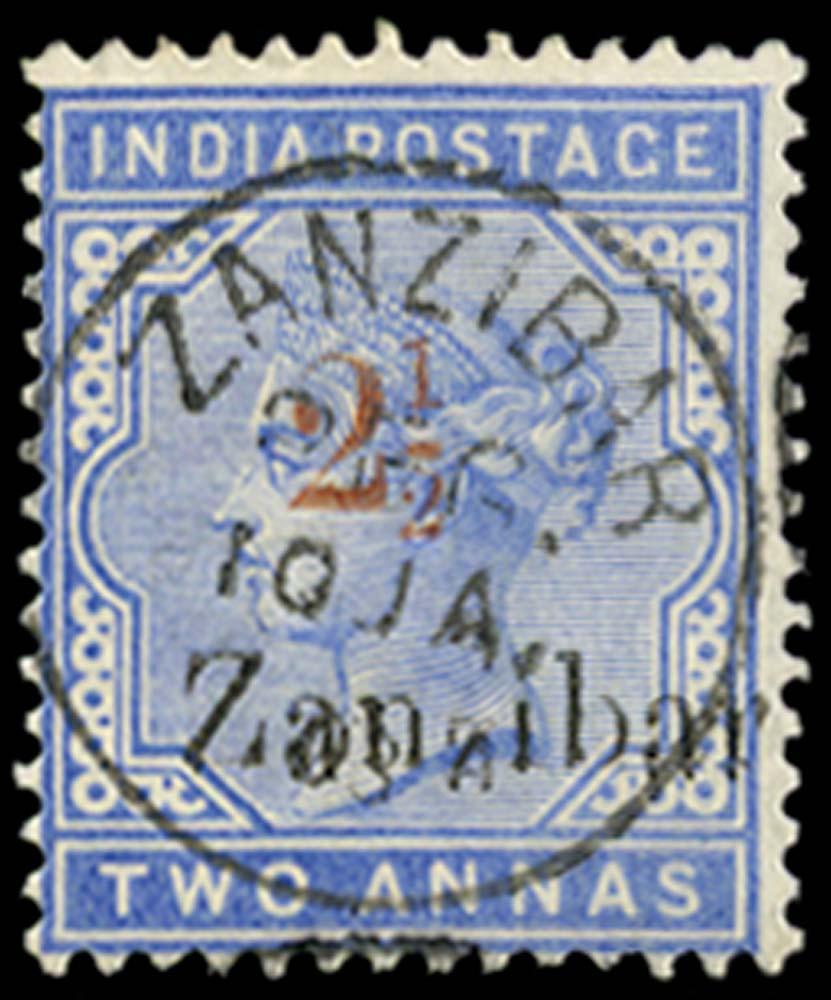 ZANZIBAR 1898  SG38D Used