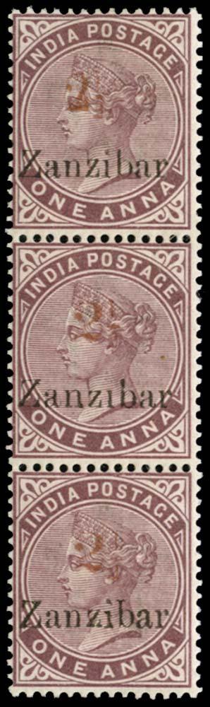 ZANZIBAR 1898  SG32D/34G/H Mint