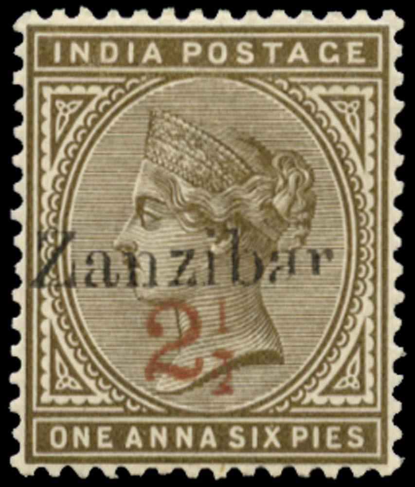 ZANZIBAR 1898  SG36C var Mint