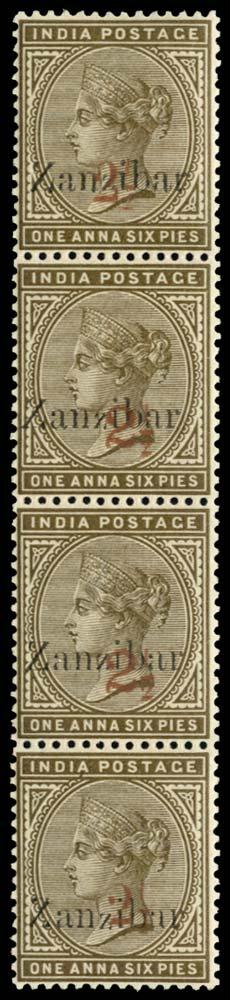ZANZIBAR 1898  SG35Dvar/36D Mint