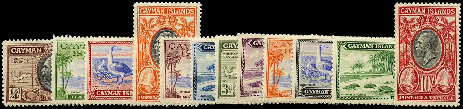 CAYMAN ISLANDS 1935  SG96/107 Mint Pictorial set of 12 to 10s