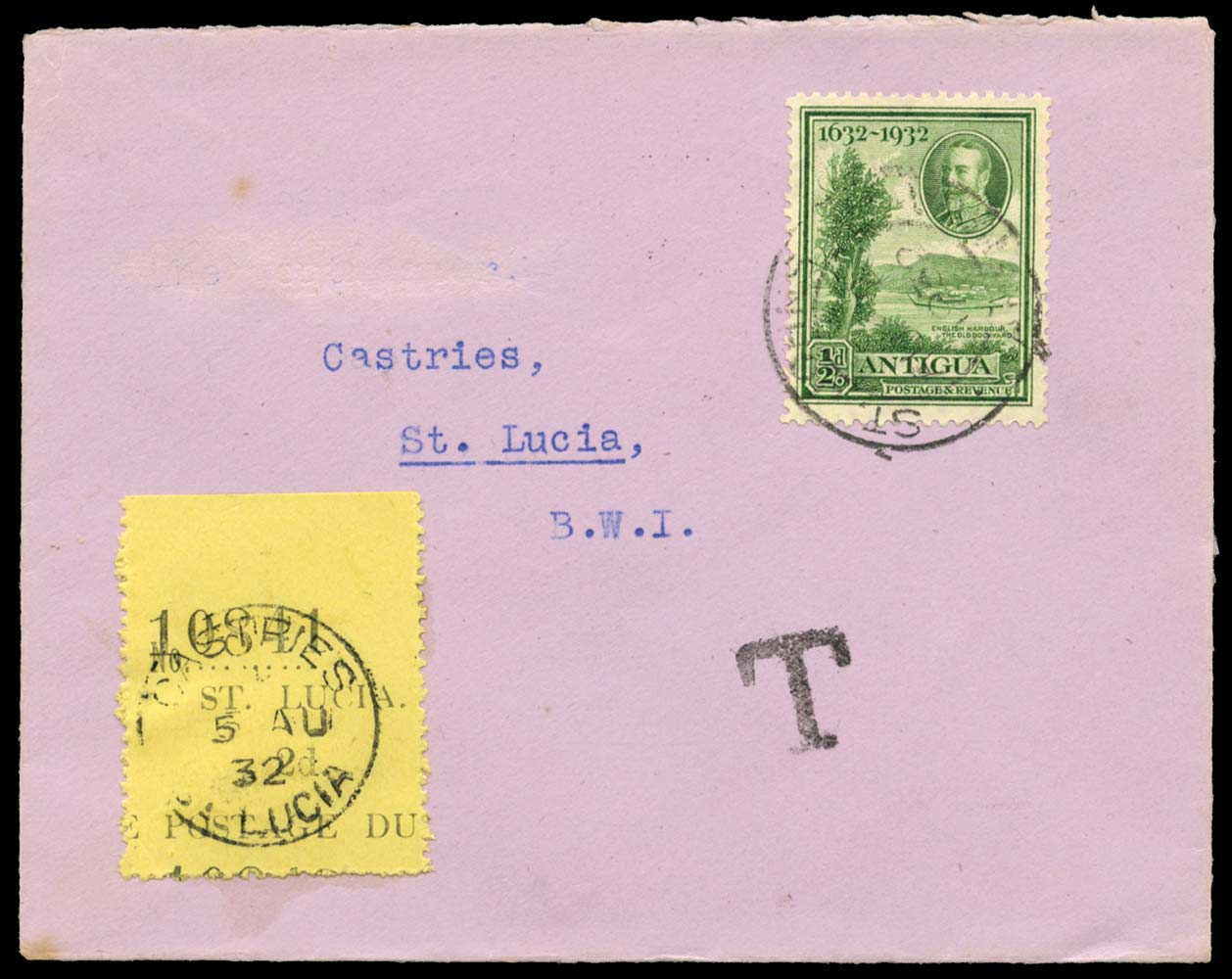 ST LUCIA 1932  SGD2 Cover