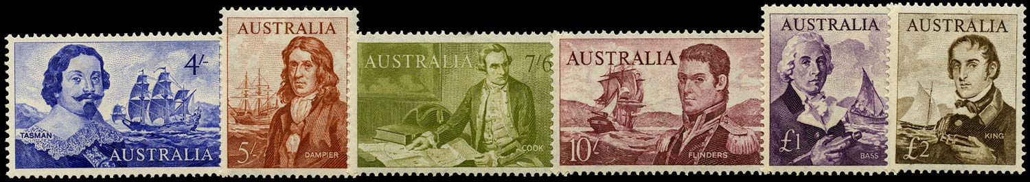 AUSTRALIA 1963  SG355/60 Mint Navigators set of 6 to £2 unmounted