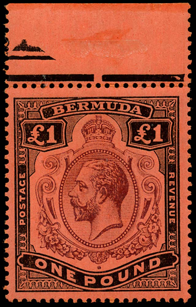 BERMUDA 1918  SG55 Mint £1 purple and black unmounted