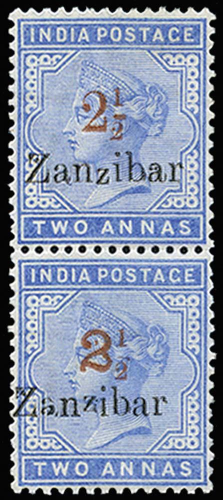 ZANZIBAR 1898  SG38D/39D Mint