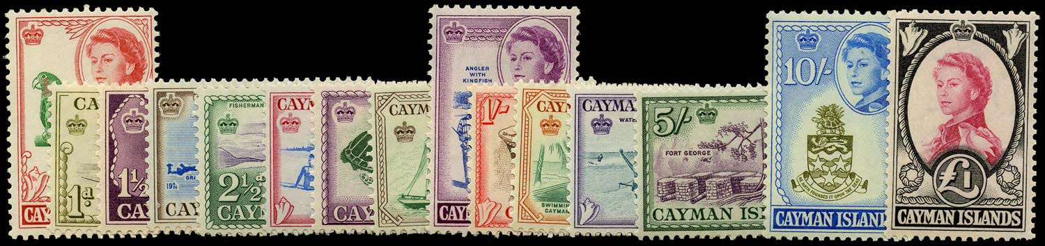 CAYMAN ISLANDS 1962  SG165/79 Mint QEII set of 15 to £1 unmounted