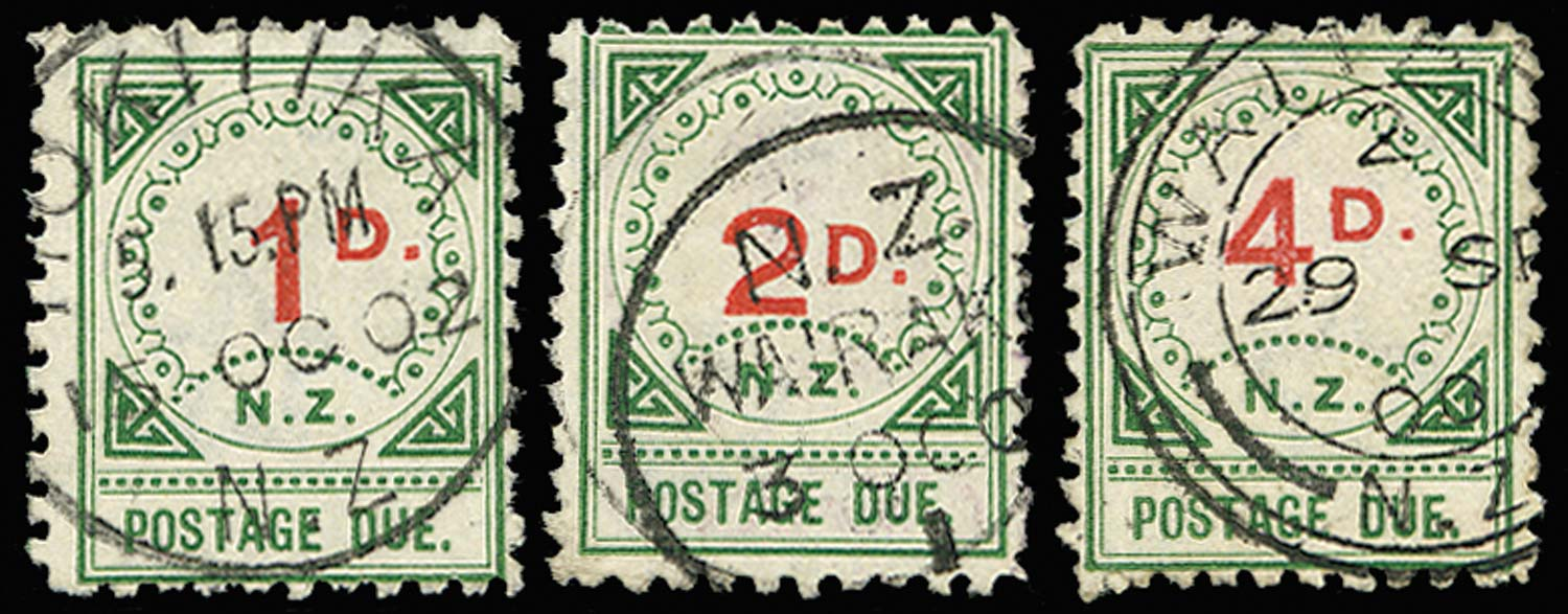 NEW ZEALAND 1899  SGD14/16 Postage Due