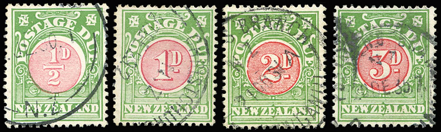 NEW ZEALAND 1925  SGD33/36 Postage Due