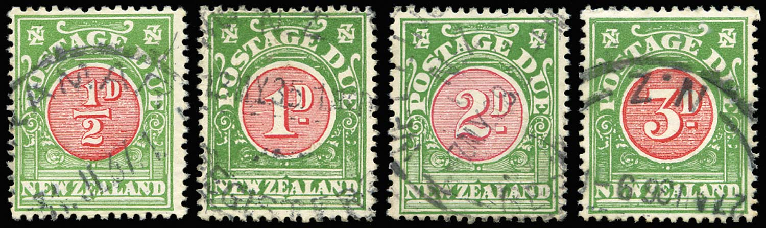 NEW ZEALAND 1925  SGD29/32 Postage Due