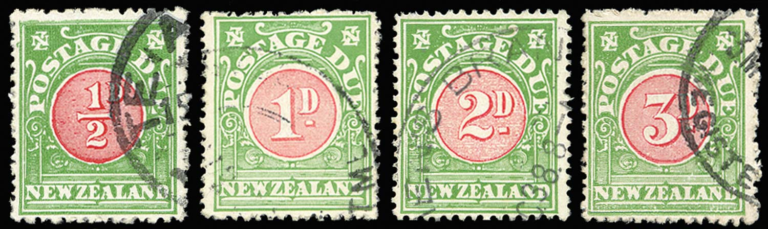 NEW ZEALAND 1937  SGD37/40 Postage Due