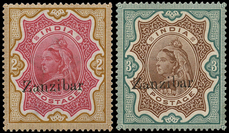 ZANZIBAR 1895  SG19/20var Mint