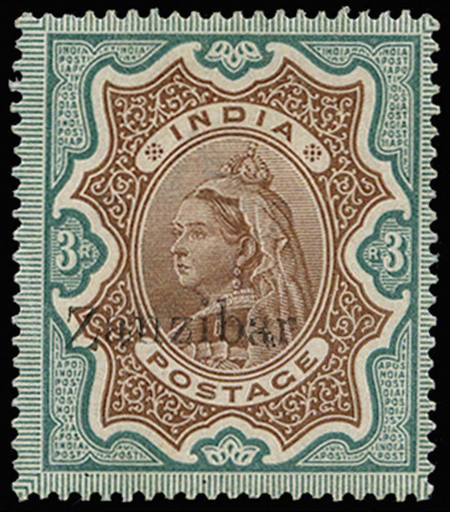 ZANZIBAR 1895  SG20var Mint
