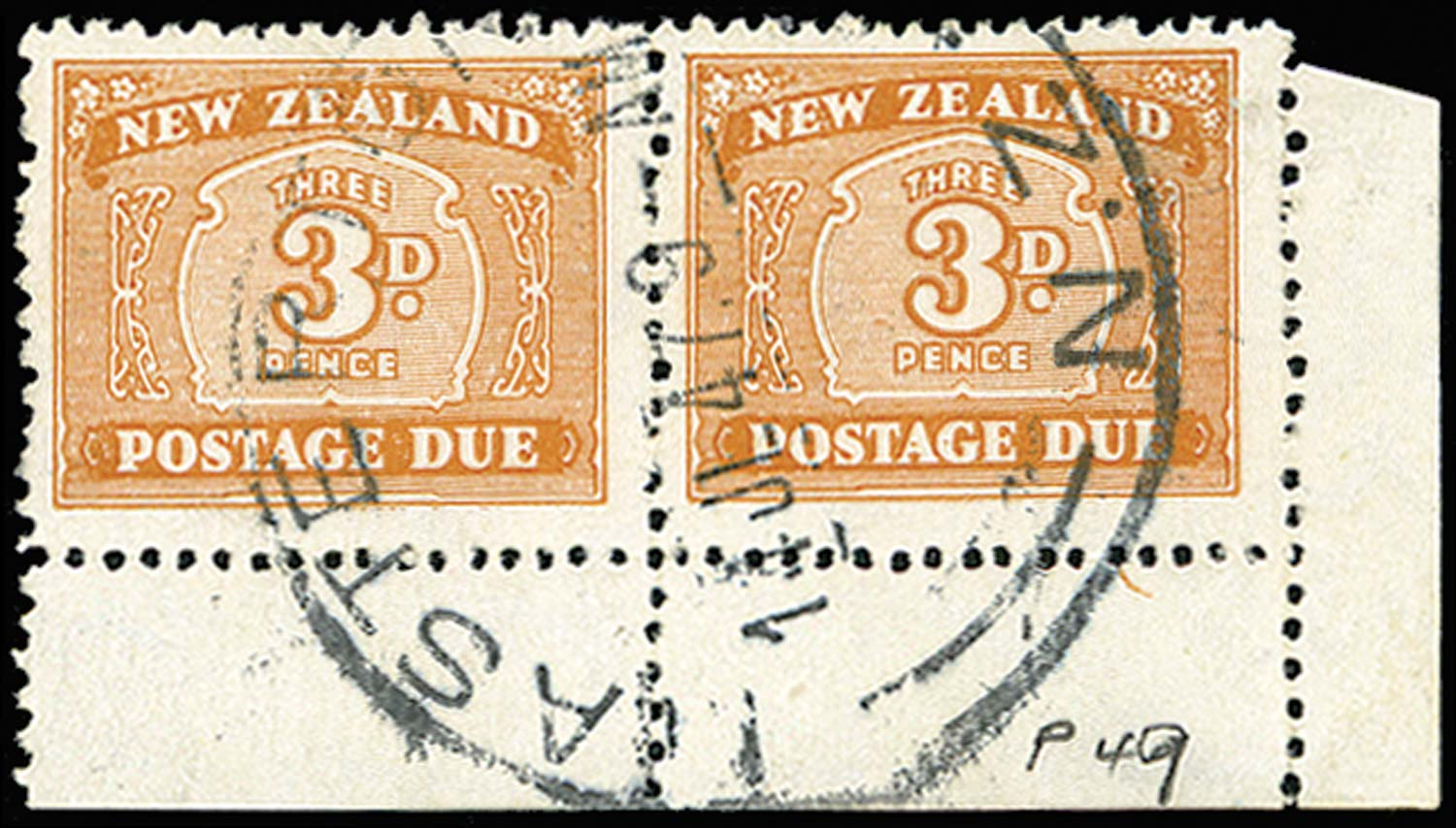 NEW ZEALAND 1939  SGD47 Postage Due
