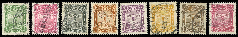 NEW ZEALAND 1913  SGL24/31 Used