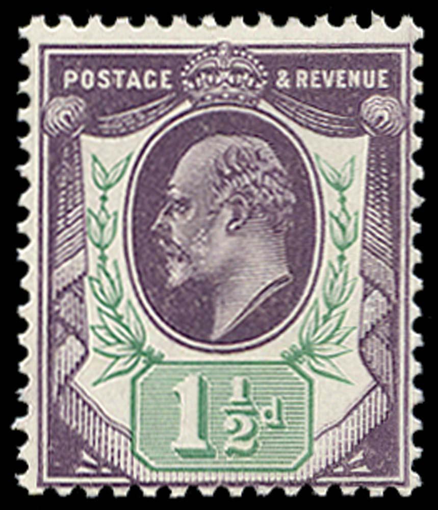 GB 1905  SG224var Mint unmounted