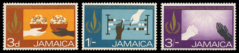 JAMAICA 1968  SG272/4 vars Mint