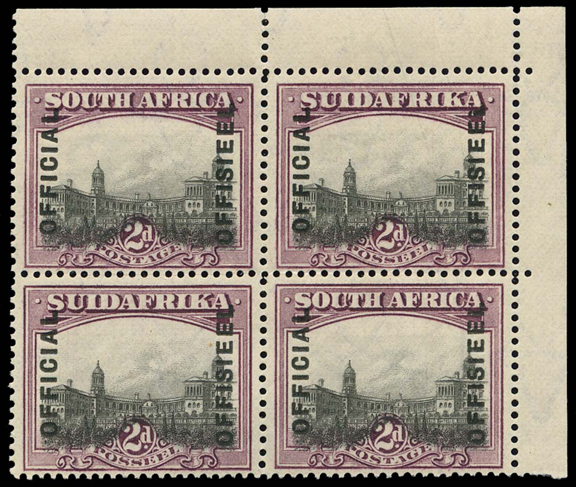 SOUTH AFRICA 1928  SGO5ac Official