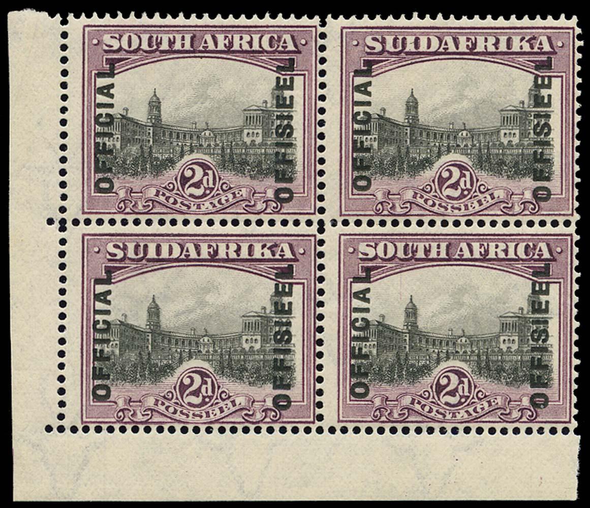 SOUTH AFRICA 1928  SGO5ac, var Official