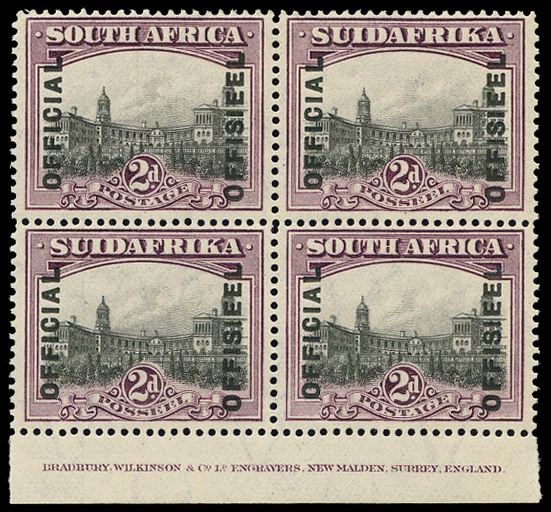 SOUTH AFRICA 1928  SGO5ac Official