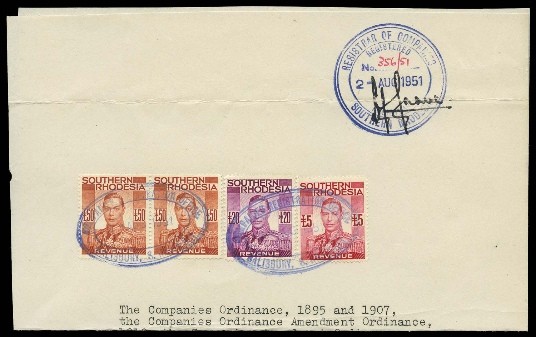 SOUTHERN RHODESIA 1951 Revenue