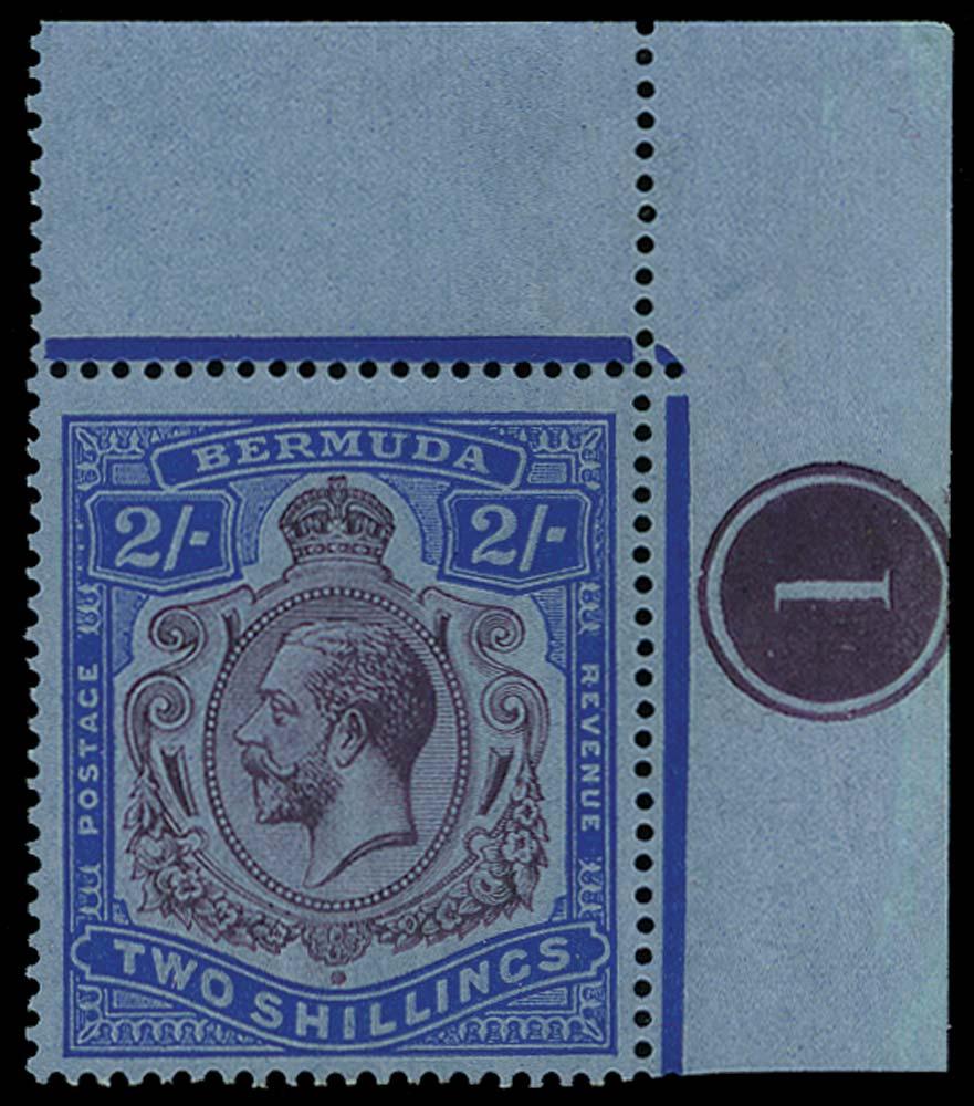 BERMUDA 1924  SG88ga Mint Break in Scroll (R1/12)