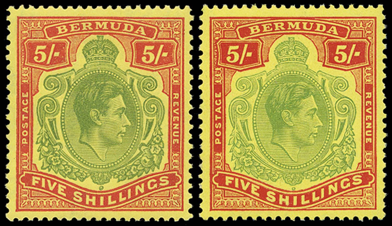 BERMUDA 1938  SG118f, g Mint