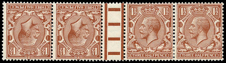 GB 1924  SG420a Mint Tête-bêche pair