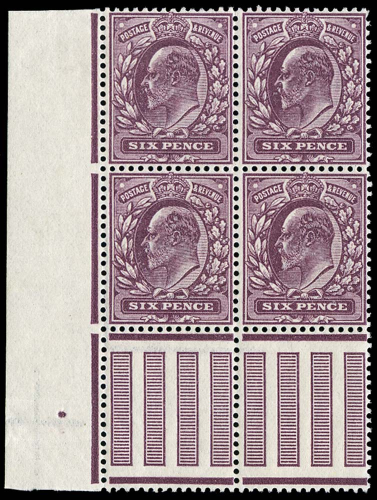 GB 1911  SG299 Mint unused o.g. block of four