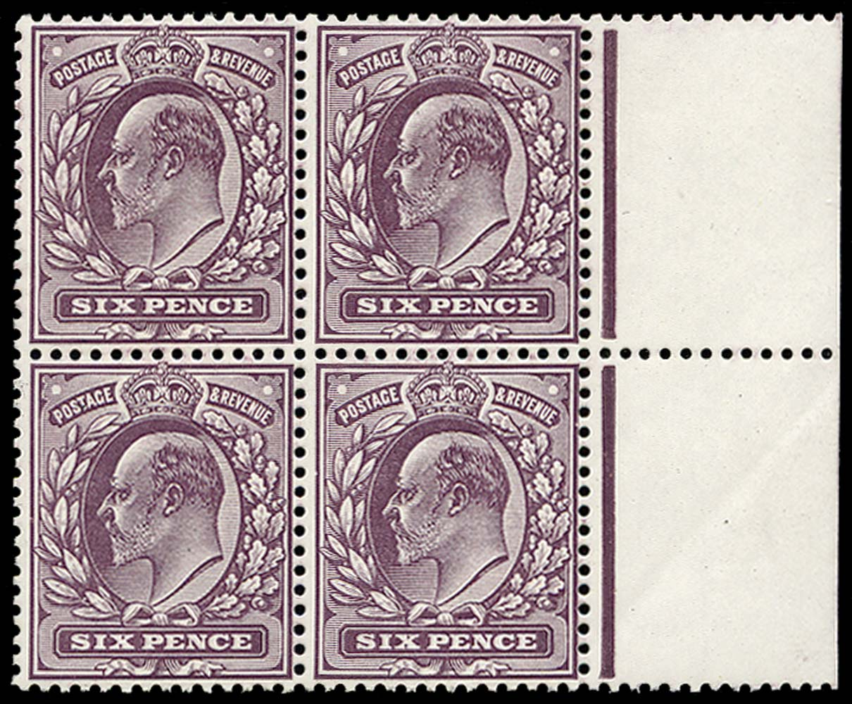 GB 1913  SG303a Mint unused o.g. block of four