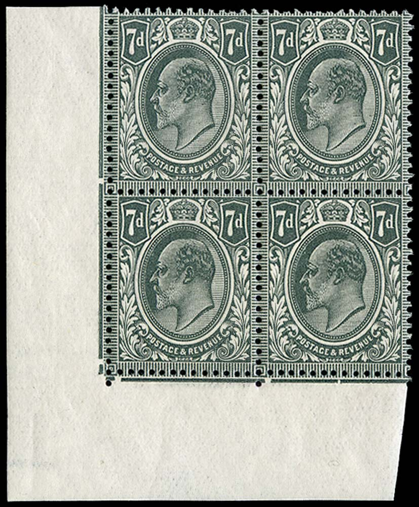 GB 1912  SG305var Mint unused o.g. block of four