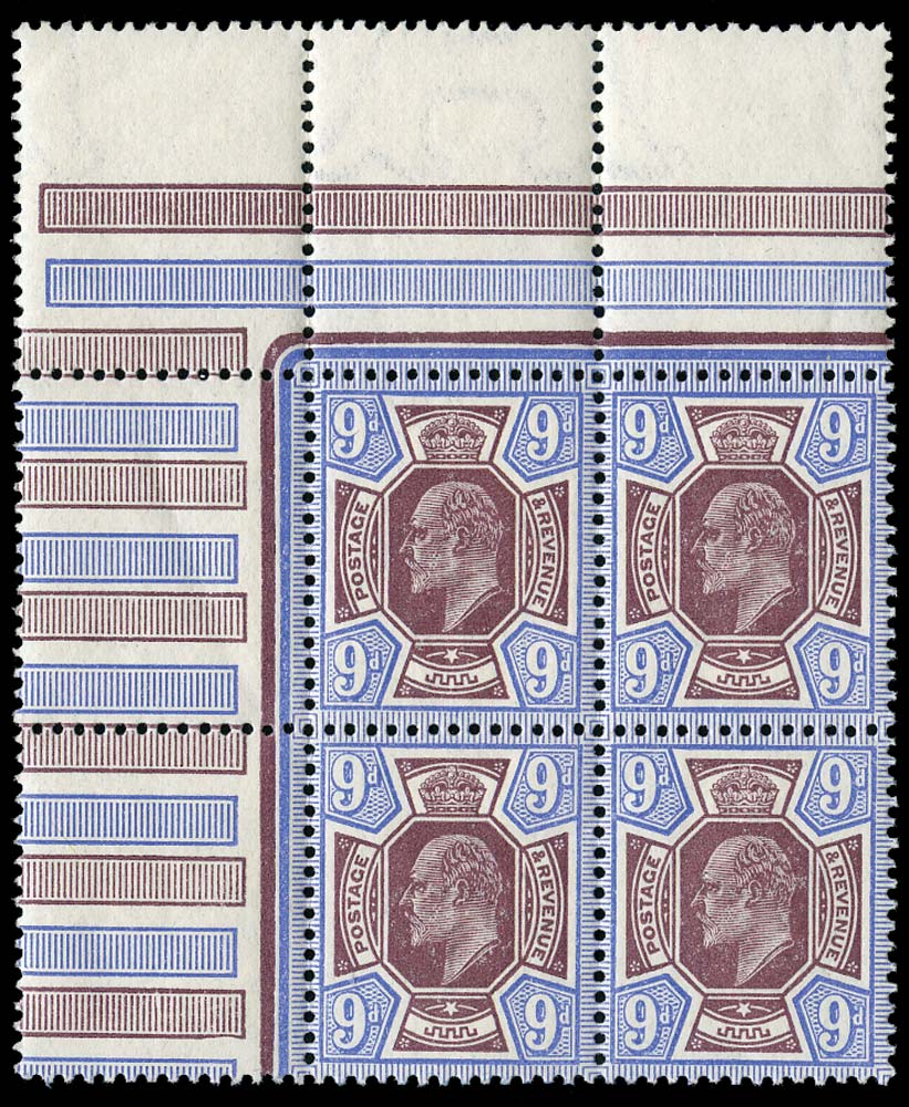 GB 1911  SG306a Mint Unused o.g. block of four