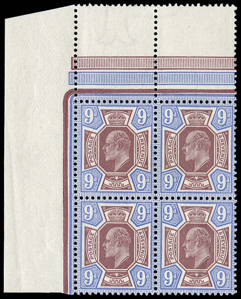 GB 1911  SG306 Mint Unused o.g. block of four