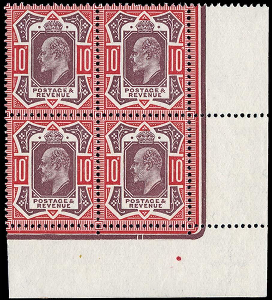 GB 1912  SG311 Mint U/M block four