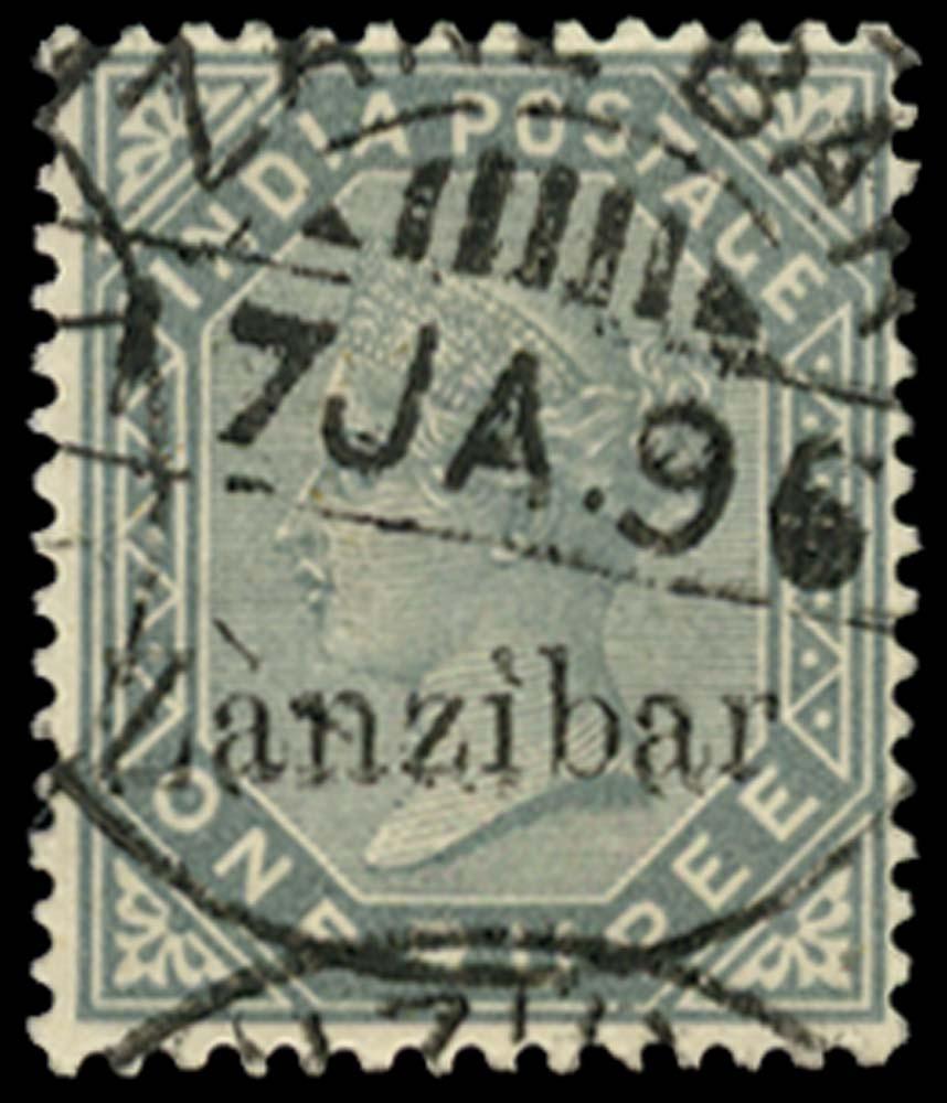 ZANZIBAR 1895  SG17 Used