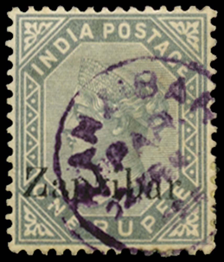 ZANZIBAR 1895  SG17D Used