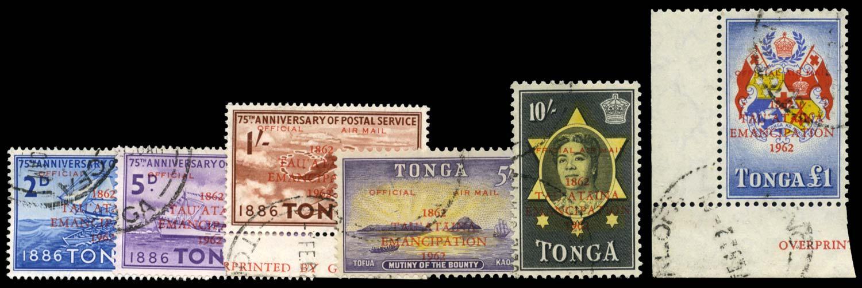 TONGA 1962  SGO11/16 Official