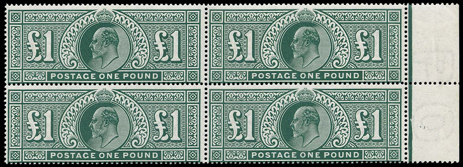 GB 1911  SG320 Mint Unmounted o.g. block of four