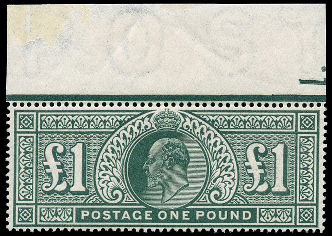 GB 1911  SG320 Mint unused o.g. top marginal