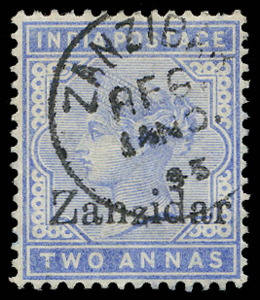 ZANZIBAR 1895  SG7j Used